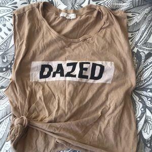 """""""Dazed"""" tan top"""